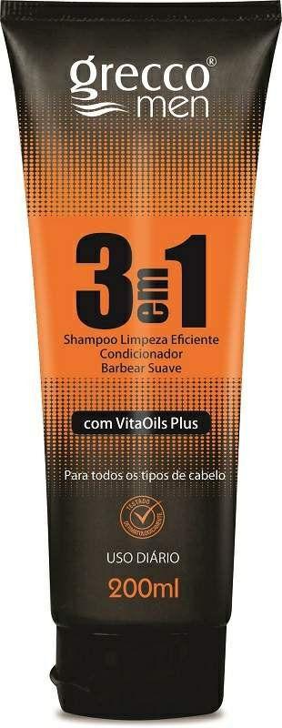 Shampoo 3 em 1 Linha Masculina - Grecco Men