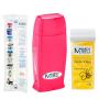 Kit Para Depilação Com Aquecedor Roll-On Pink + Papel + Refil De Cera