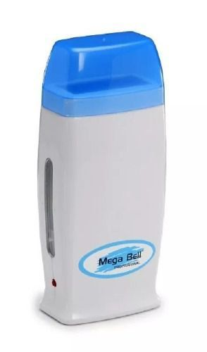 Base Dupla + 1 Aquecedor de Cera Quente Rollon Branco c/ Azul Mega Bell