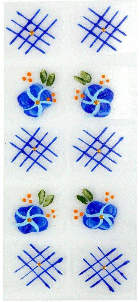 Adesivo Artistico Para as Unhas REF 01 Cartela com 10 unidades - Santa Clara