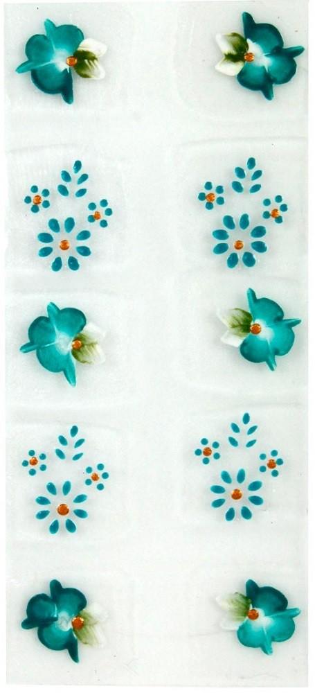 Adesivo Artístico Para as Unhas REF 02 Cartela com 10 unidades - Santa Clara