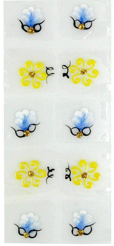 Adesivo Artístico Para as Unhas REF 03 Cartela com 10 unidades - Santa Clara