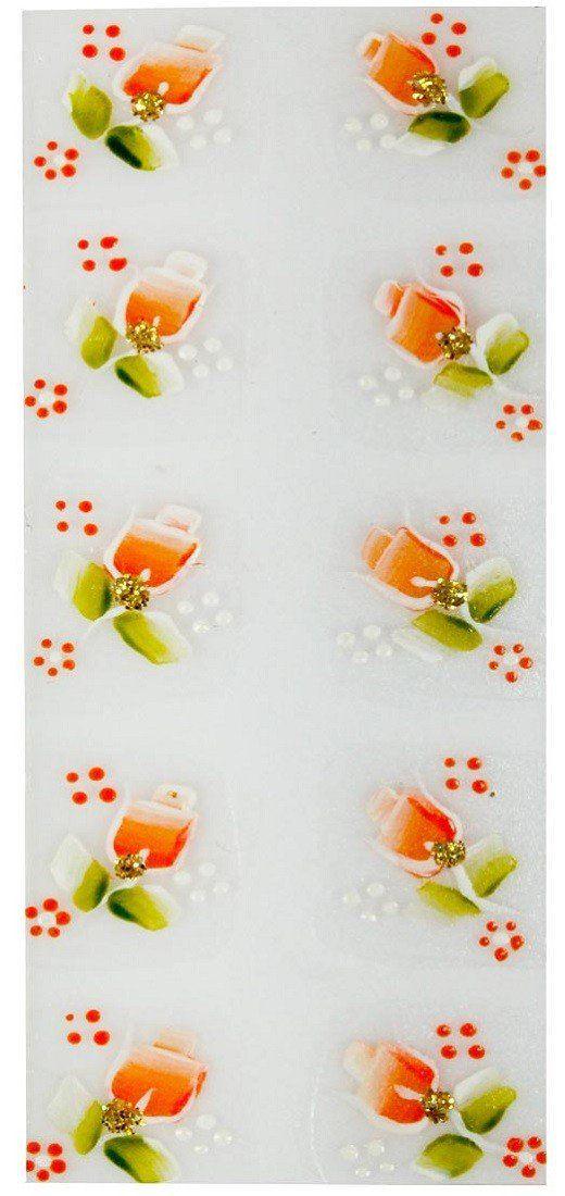 Adesivo Artístico Para as Unhas REF 05 Cartela com 10 unidades - Santa Clara