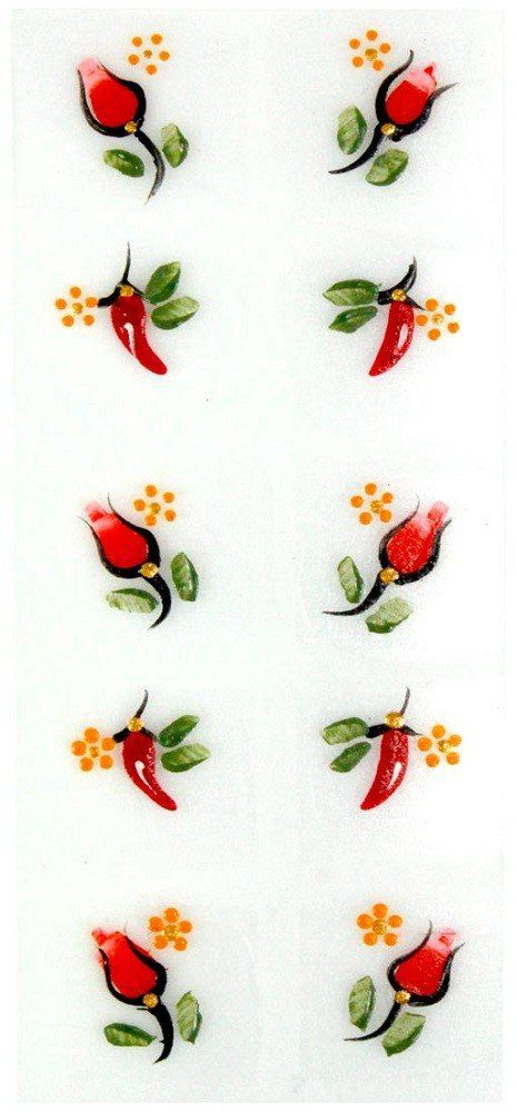 Adesivo Artístico Para as Unhas REF 08 Cartela com 10 unidades - Santa Clara