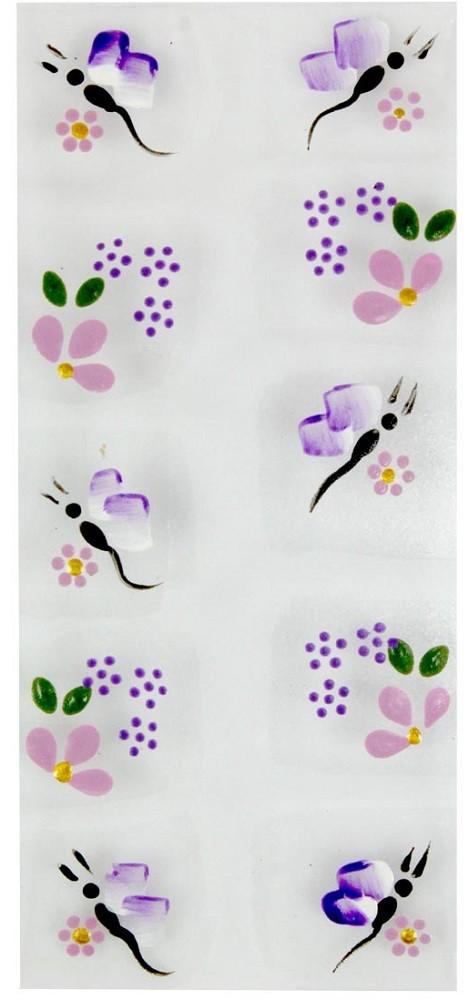 Adesivo Artístico Para as Unhas REF 12 Cartela com 10 unidades - Santa Clara