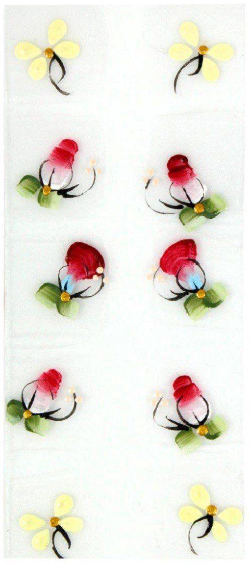 Adesivo Artístico Para as Unhas REF 14 Cartela com 10 unidades - Santa Clara