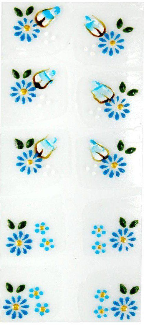 Adesivo Artístico Para as Unhas REF 16 Cartela com 10 unidades - Santa Clara