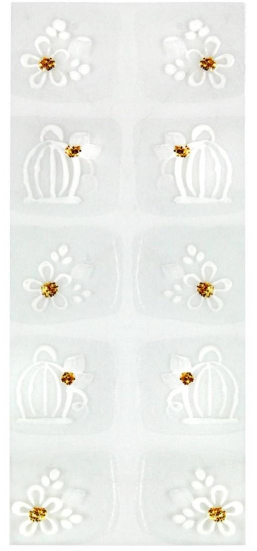 Adesivo Artístico Para as Unhas REF 17 Cartela com 10 unidades - Santa Clara