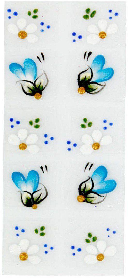 Adesivo Artístico Para as Unhas REF 18 Cartela com 10 unidades - Santa Clara