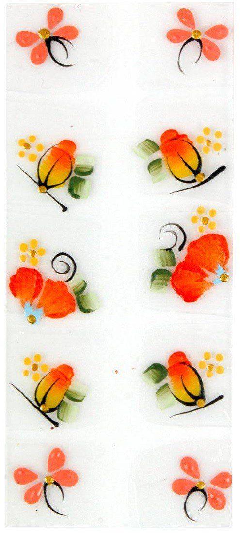 Adesivo Artístico Para as Unhas REF 19 Cartela com 10 unidades - Santa Clara