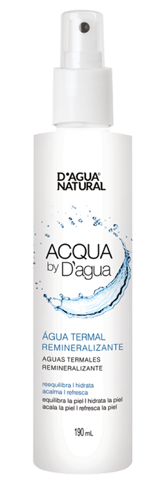 Água Termal Remineralizante D'agua Natural - 190ml