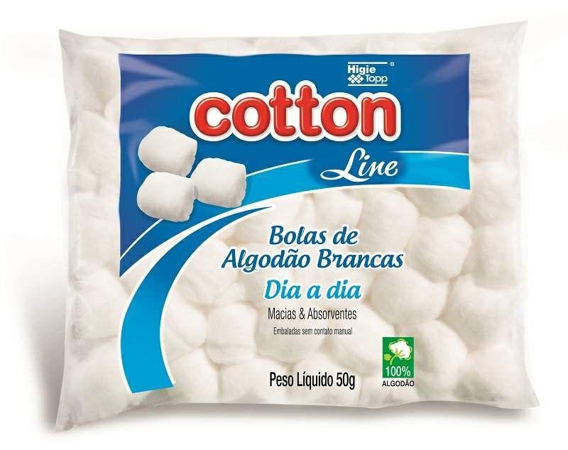 Algodão de Bolinhas Brancas Cotton Line 50g