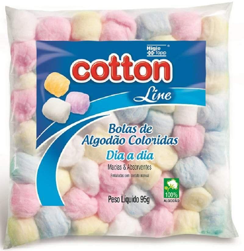 Algodão de bolinhas coloridas 95g- Cotton Line