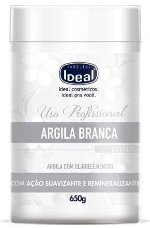 Argila Branca Remineralizante com Oligoelementos 650g - Ideal