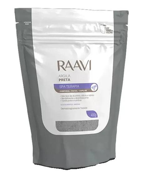 Argila Preta Corporal e Facial Ação Desintoxicante - 400g Raavi