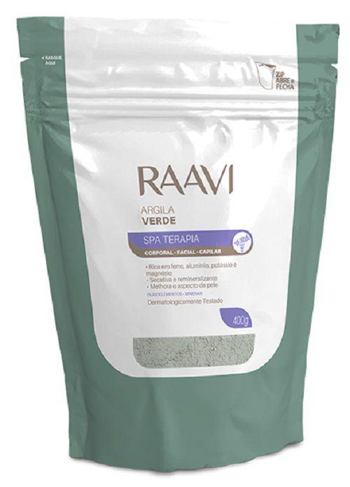Argila Verde Corporal e Facial Ação Nutritiva - 400g Raavi