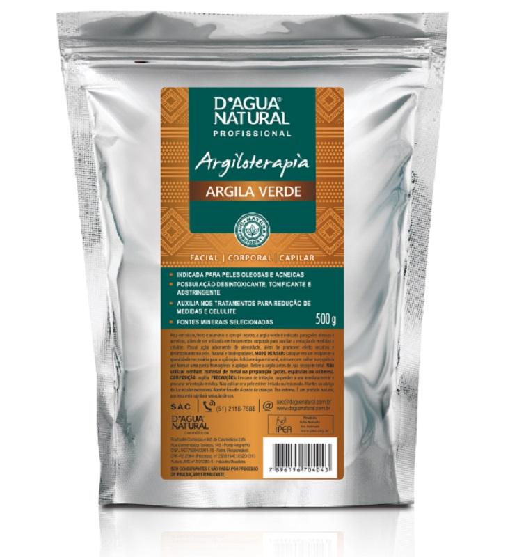 Argila Verde Tratamento e Prevenção de Celulite - 500g Dágua Natural