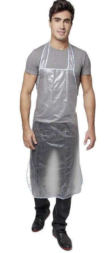 Avental PVC Para Tintura Longo Sem Bolso - 1 Unidade