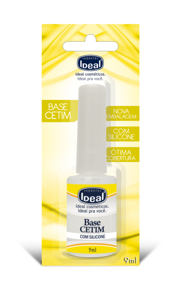 Base de Unha Cetim Com Silicone 9 ml - Ideal
