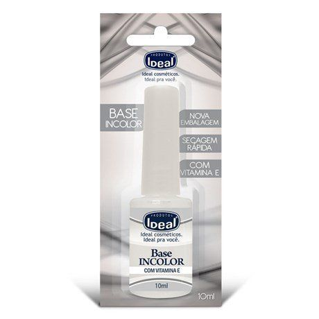 Base Incolor para Unhas com Vitamina E - Ideal 9ml