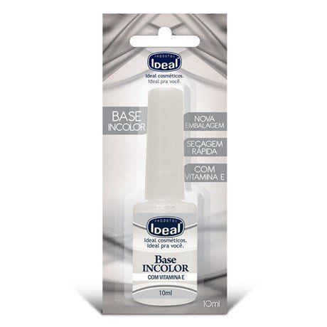 Base Incolor para Unhas com Vitamina E - Ideal 9ml