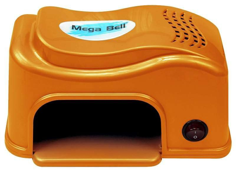 Cabine LED Compact Para Unhas de Gel e Acrigel - Mega Bell Laranja