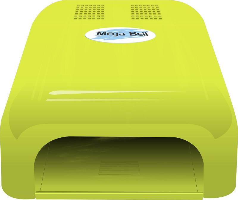 Cabine LED Para Unhas de Gel e Acrigel - Mega Bell Verde Limão