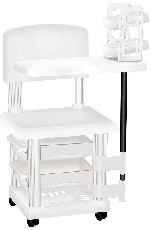 Cadeira Cirandinha Branca Para Manicure Com Display para Esmaltes