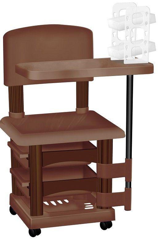 Cadeira Cirandinha Marrom Para Manicure Com Display para Esmaltes
