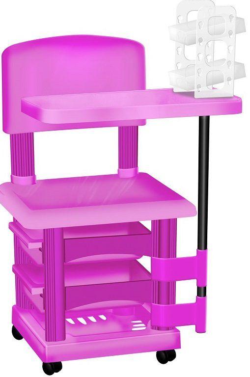 Cadeira Cirandinha Pink Para Manicure Com Display para Esmaltes
