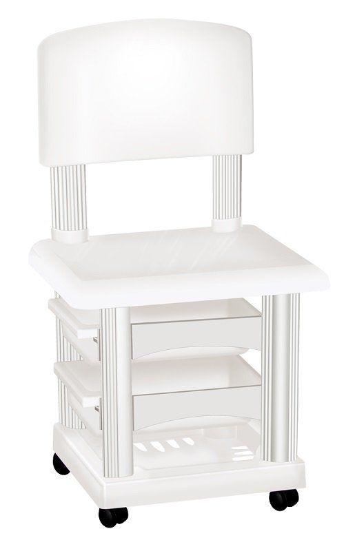 Cadeira Cirandinha Simples Branca Para Manicure - Santa Clara