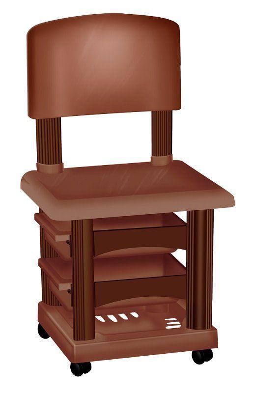 Cadeira Cirandinha Simples Marrom Para Manicure - Santa Clara