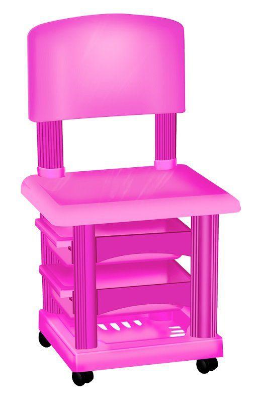 Cadeira Cirandinha Simples Pink Para Manicure - Santa Clara