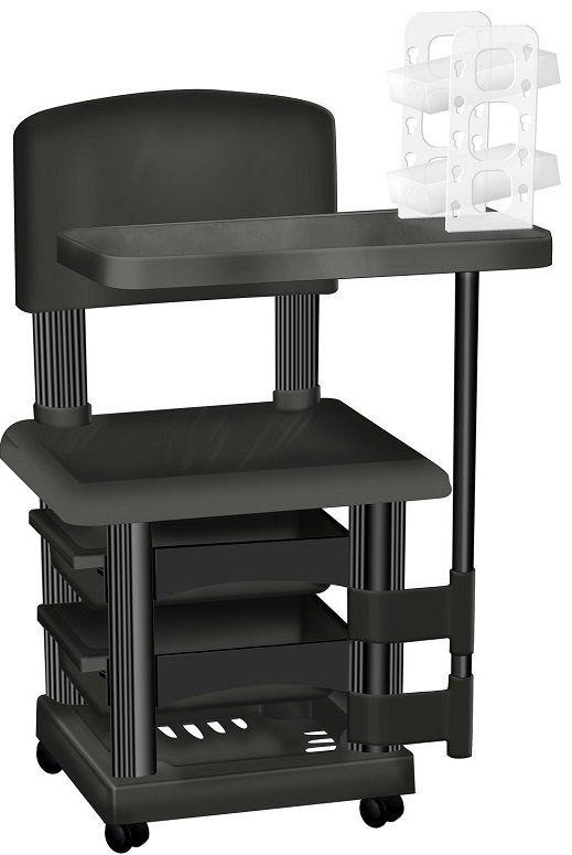 Cadeira Cirandinha Preta Para Manicure Com Display para Esmaltes