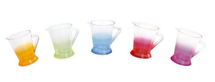 Caneca Graduada Cristal Bi-color 150ml