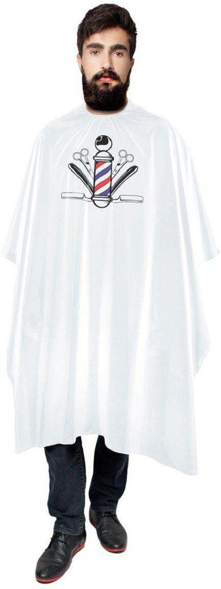 Capa Branca de Cetim Sem Manga Com Impressão para Barbeiro - Santa Clara