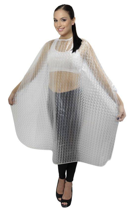 Capa PVC 3D Para Tintura/Química Com Manga E Com Velcro
