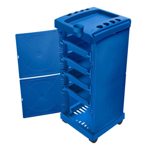 Carrinho Auxiliar Fechado Azul Com 04 Gavetas 01 Unidade - Santa Clara