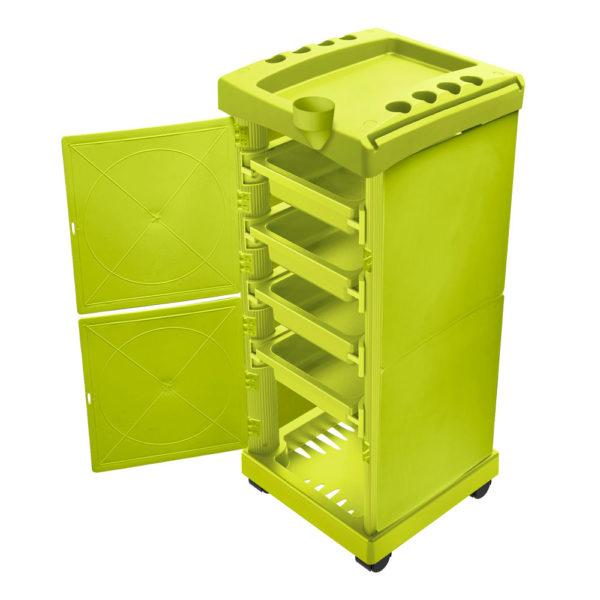 Carrinho Auxiliar Fechado Verde Limão Com 04 Gavetas 01 Unidade - Santa Clara