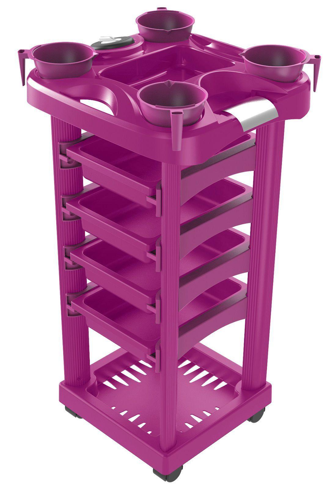 Carrinho Pink para Tintura Luxo - Santa Clara