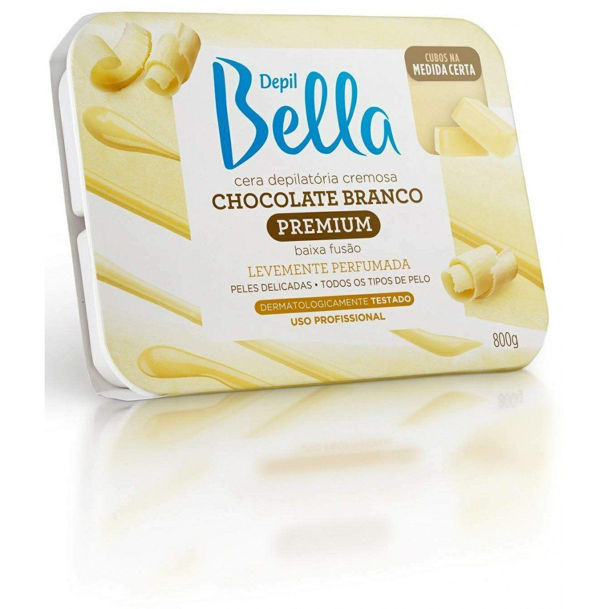 Cera Depilatória em Barra de Chocolate Branco Depil Bella
