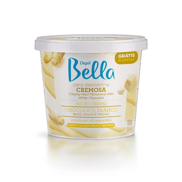 Cera Depilatória Para Micro-ondas Chocolate Branco Depil Bella - 100g