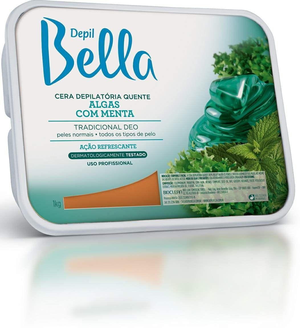 Cera Depilatória Quente em Barra de Algas e Menta - Depil Bella