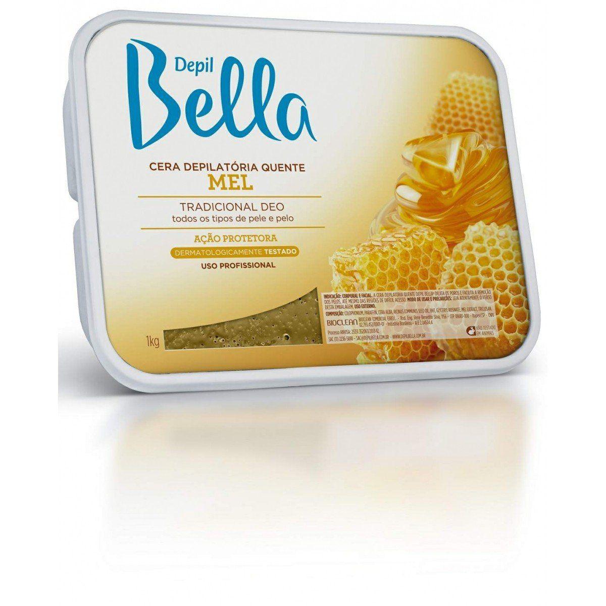Cera Depilatória Quente Depil Bella em Barra Mel
