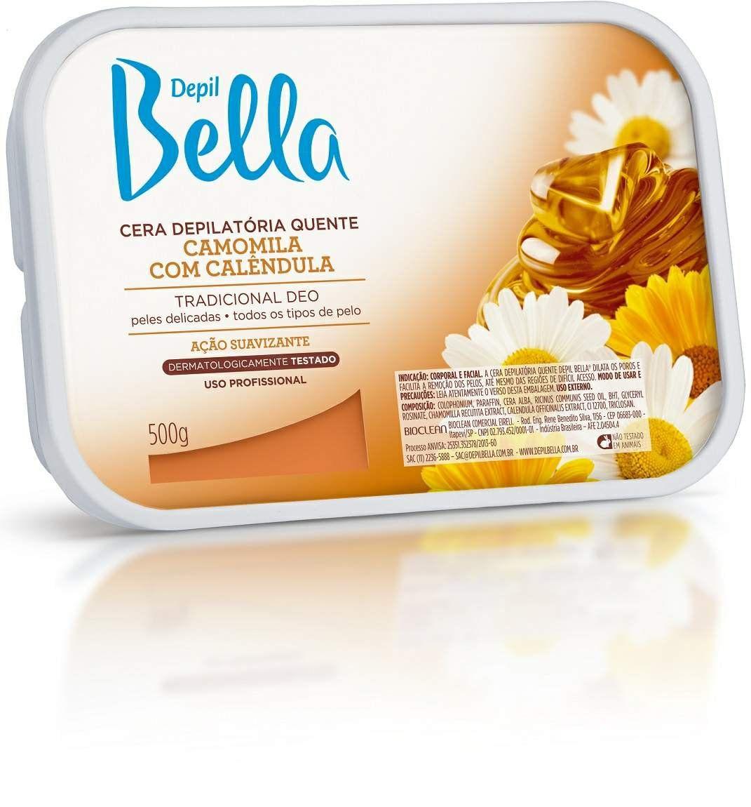 Cera Quente em Barra para Depilação Camomila e Calêndula - Depil Bella