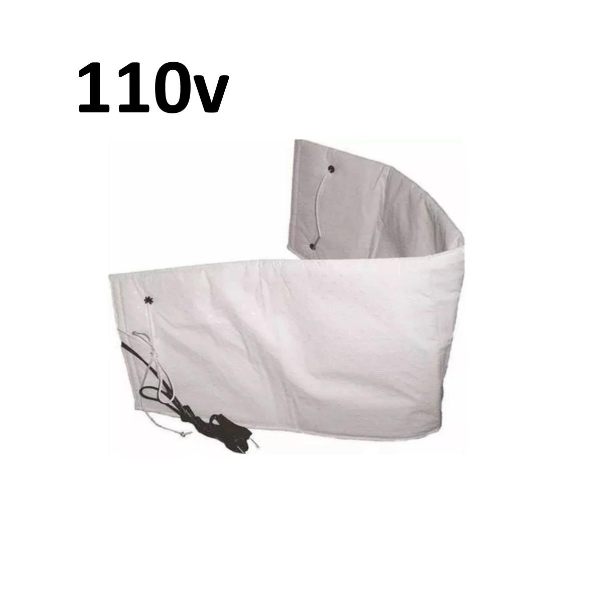 Cinta Térmica Abdominal Elétrica para Redução de Medidas - 110v Branca