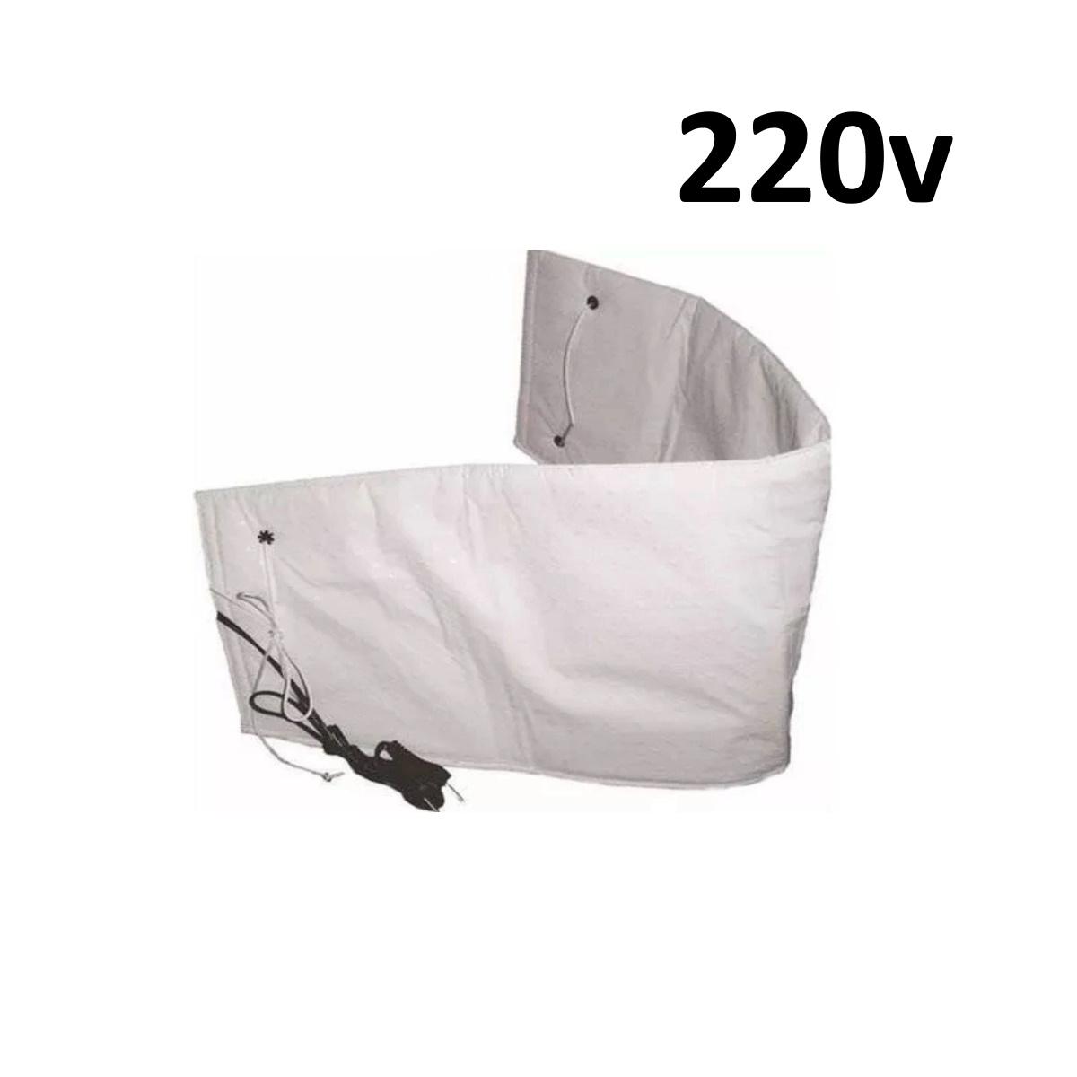 Cinta Térmica Abdominal Elétrica para Redução de Medidas - 220v Branca