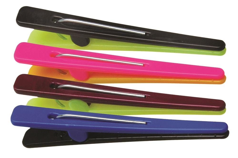 Clips Plásticos Coloridos 12 Unidades - Santa Clara