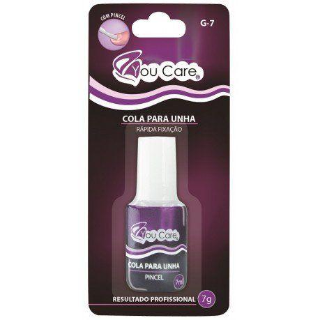 Cola G-7 Com Pincel Para Unhas Postiças Rápida Fixação 7g - You Care