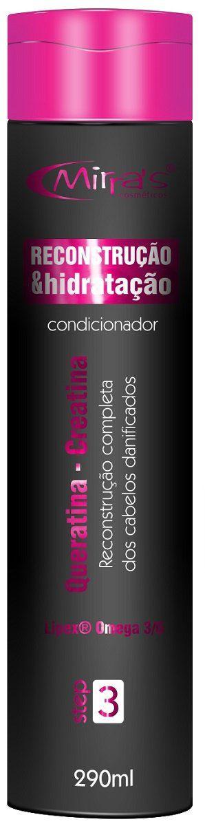 Condicionador Para Cabelos Reconstrução e Hidratação 290g - Mirra´s